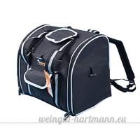 CS Noir Pet Bag Out Of Portable Double Épaule Zipper Forfait Fournitures pour animaux de compagnie Chest Backpack Lumière et Pratique - B078YP5HHZ