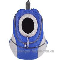 Sacs à Dos de Transport Sac Ventral Sac de Transport en Mesh Tissu Pas pour Chiens Chat Animaux Couleur:Bleu Dimension:XL: 46 * 41 * 22cm - B01M61SAGB