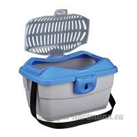 Trixie Capri Mini Boîte de transport  40x 22x 30cm  gris/gris clair/bleu - B000RY84W0