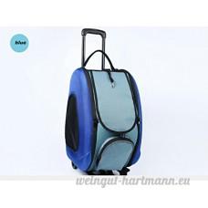GUOGUO Trolley Pour Animaux De Compagnie Trolley Portable Pour Chats Et Petits Chiens Blue - B07DMJB734