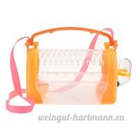 Su-luoyu Cage Portable pour Hamster Boîte de Transport à Main ou Bandoulière Lapin Souris Cage avec Lucarne Respirant - B07DFZZ78P