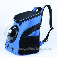 YAOBAO Animal Portable Carrier Espace Capsule Sac À Dos PU En Cuir Chien Chat Petites Animaux Voyage Sac - B07DH2G2YY