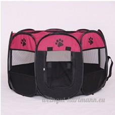 YAOBAO Ouvert Chenil Chien Moyen Canin Extérieur Portable Voyage Pliant - B07D8WFZ78