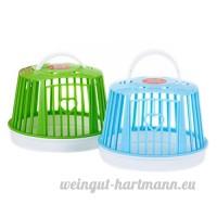 Yunt Cage de Transport pour Hamster Nid Portable Hamster Boîte Cage en Plastique pour Cochon d'Inde / Chinchilla / Hamster Doré (Couleur Aléatoire) - B07CG4YZNT