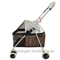 Voiture pour animaux de compagnie Chariot pour animaux légers Chariot pour chiens et chats Chien Push peut être plié et démonté (75cm * 43cm * 86cm) - B07C6B77ZX