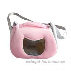 Yunt Sac de Transport pour Hamster Sac en Velours Sac Portable Hamster à Bandoulière et Main pour Petit Animal de Compagnie (Rose) - B07BQW7TP1