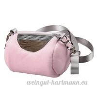 non-brand MagiDeal Sac à Main Sac Transport pour Hamster Cobaye Lapin Petit Animal - Rose  Type 2 - B07CYW8DYD