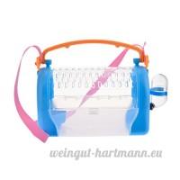 Su-luoyu Cage Portable pour Hamster Boîte de Transport à Main ou Bandoulière Lapin Souris Cage avec Lucarne Respirant - B07DG288KC