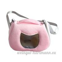 Su-luoyu Sac de Transport pour Hamster Petit Animal domestique avec Bandoulière Adorable Portable Extérieur Voyage 2 Couleurs aux choix - B07DG1WXZD