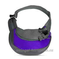 PETCUTE Pet Sling Chat Puppy Carrier Mesh épaule Carry Bag Sling Mains-Libres Sac de Voyage Violet - B07C1M4YV4