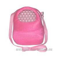 Lazzykit Sacoche de voyage portable Sacs de Transport Respirant pour Petit Animaux de Domestique Écureuil Chinchillas Hamsters (S:18*13cm  Rose) - B0797M53BR