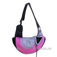 CS Pet Bag Out Portable Cat Dog Pack Sacs de fournitures pour animaux de compagnie respirant jaune vert rose bleu (Color : Pink) - B078YQWPWX