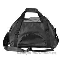 CS sac extérieur d'animal familier hors du chien portatif et des approvisionnements d'animal familier peut plier le tissu d'Oxford noir argent gris camouflage vert (Color : Black) - B078YQ9WRF