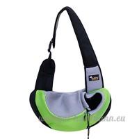 CS Pet Bag Out Portable Cat Dog Pack Sacs de fournitures pour animaux de compagnie respirant jaune vert rose bleu ( Color : Green ) - B078YPX9H7