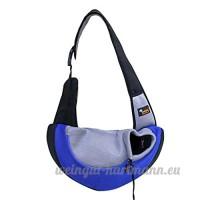 CS Pet Bag Out Portable Cat Dog Pack Sacs de fournitures pour animaux de compagnie respirant jaune vert rose bleu ( Color : Blue ) - B078YPMGK4