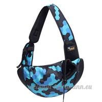 CS Out Portable Pet Bag Sac de chien Pack Sacs de fournitures pour animaux de compagnie lumière et respirant camouflage rouge bleu violet ( Color : Camouflage blue ) - B078YNW48D
