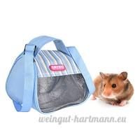 Awhao Sac de Transport pour Petits Animaux de Compagnie Sac à Bandoulière Sac à Main de Voyage pour Hamsters Écureuils Visons (Bleu) - B078YB88GH