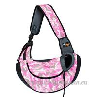 CS Sac pour animaux de compagnie en dehors de sac portable unique sac à bandoulière sac pour chien et animaux de compagnie camouflage vert rose bleu (Color : Camouflage pink) - B078Y7DTYQ