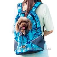 CS Le sac à dos pour animaux de compagnie sort et l'emballage des fournitures pour animaux domestiques Chat et chien léger et confortable camouflage bleu rose vert ( Color : Camouflage blue   Size : S ) - B078Y4YRPK