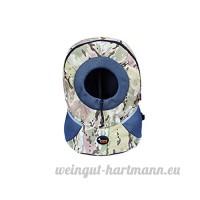 CS sac à dos pour animaux de compagnie sort et l'emballage des fournitures pour animaux domestiques Chat et chien léger et confortable camouflage bleu rose vert (Color : Camouflage green  Size : S) - B078Y4VV69