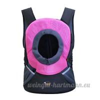 CS Pet sac à dos chat et chien sac portatif pour voyager sac et paquet fournitures pour animaux de compagnie vert rose rouge bleu or ( Color : Rose red   Size : L ) - B078Y3D2J3