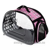 CS Le sac de chien de chat et le sac d'animal familier hors du sac portatif est confortable et respirable et sac à dos transparent Le sac de chat peut être démantelé bleu rose ( Color : Pink ) - B078Y31PFV