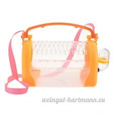 Yunt Cage Portable pour Hamster Boîte de Transport pour Rat Souris Lapin Cage Respirante à Main ou Bandoulière avec Lucarne pour Petit Animal de Compagnie (Jaune) - B077TMQ1P2