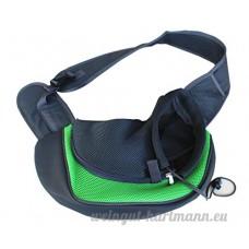 Hoverwings Sac à bandoulière pour animal domestique Sac à poitrine avant pour chien (S  Vert) - B0746GKP1Y