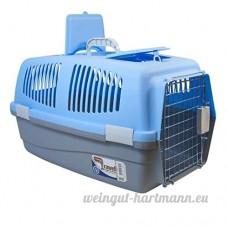 Grand Pet Voyage Transporteur pour chien chat lapin Panier en plastique Poignée Porte à charnière plaqué chrome Cage de transport - B01G5SBRH0