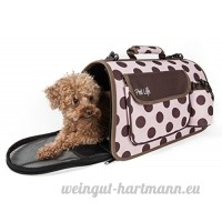 Pet Life Airline Approved Designer Polka Dot Casual Zippered Pet Carrier  Large - B008CXQE84